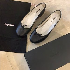 Repetto Heeled Ballerina Flats